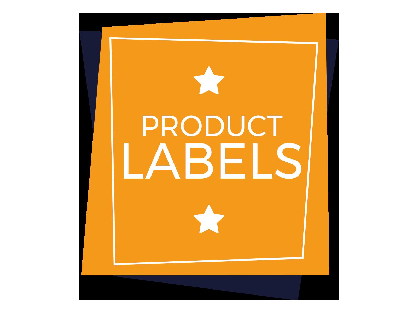 mobiele app - product labels
